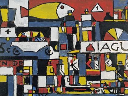 Constructivo con calle y gran pez (1946), de Joaquín Torres García.