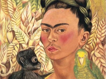 Frida Kahlo. Autorretrato con chango y loro, 1942