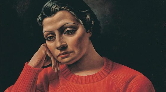 Antonio Berni - Mujer del sweater rojo